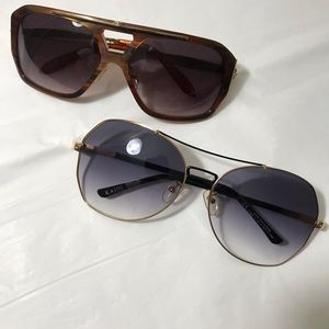 Bundle of 2x sunglasses with case 😎